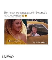 Hold Up Meme - ellen s cameo appearance in beyoncé s hold up video entube ig