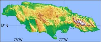 Topographical Map Of South America by Large Detailed Topographical Map Of Jamaica Jamaica Large