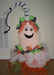 tomato cage deco mesh ghost halloween deco mesh wreaths