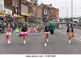 irish dancers at the st patrick u0027s day parade in digbeth birmingham