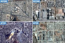 syria before and after incredible satellite images show the staggering scale of destruction