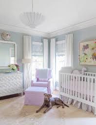 white french crib with ruffled crib skirt transitional nursery