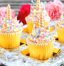 cupcake toppers unicorn horn fondant toppers unicorn cupcake toppers the bakers