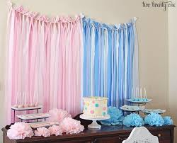 dessert table backdrop diy gender reveal party decorations 3 grounbreaking captures this