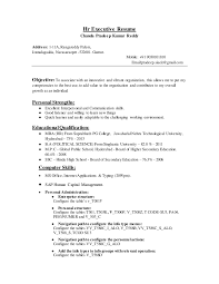 Sample Hr Executive Resume by Hr Executive Resume