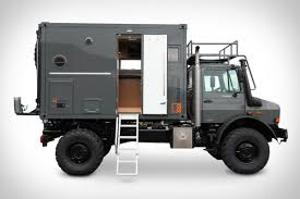 this rugged truck is an all in one home in a box curbed