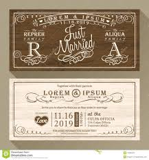 vintage wedding invitation vintage wedding invitation border and frame template stock vector