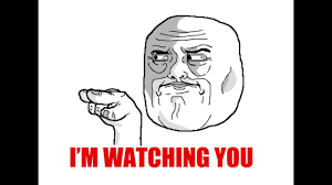 Watching You Meme - en couleurs à imprimer personnages célèbres troll face i m