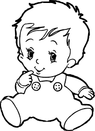 baby face coloring page eson me