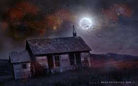 halloween night wallpaper house moon night stars birds halloween dark hd wallpaper 1478790