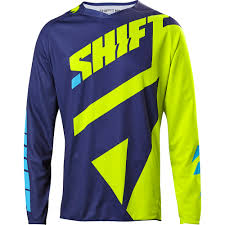 shift motocross helmets shift 2017 3lack mainline flo yellow jersey mxstore picks