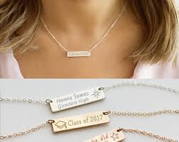 high school class necklaces graduation necklace etsy
