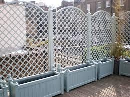 painted planters u0026 trellis garden pinterest garden fencing
