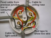 one way lighting junction box