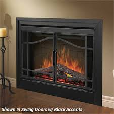 Fireplace Electric Insert Dimplex 39 In Deluxe Built In Electric Fireplace Bf39dxp