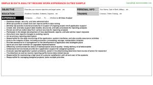 Sample Resume Data Analyst by Hedis Data Analyst Resumes Samples