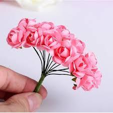 cheap artificial flowers 144pcs mini paper handmade artificial flower for wedding