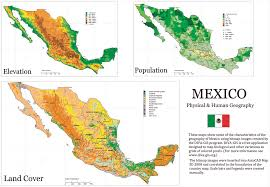 Maps Mexico by Mexico Physical And Human Geography