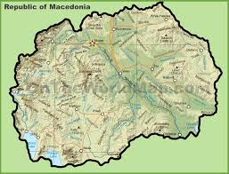 Eastern Europe Physical Map by Macedonia Maps Maps Of Macedonia