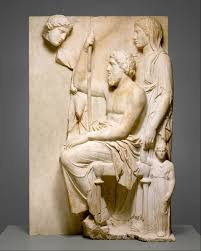 35 Best Sculptures Images On Marble Grave Stele With A Family Group Greek Attic Late