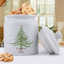 personalized holiday cookie jars christmas tree