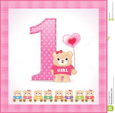 baby girl birthday birthday card for baby girl royalty free stock photography image