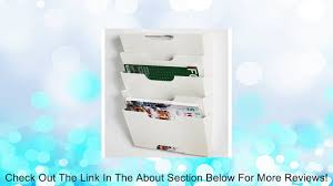ikea kvissle wall magazine file rack white metal review video