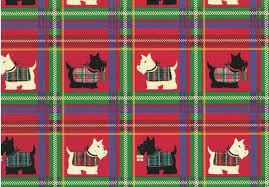 christmas plaid wrapping paper scottish terrier rolled christmas plaid gift wrap