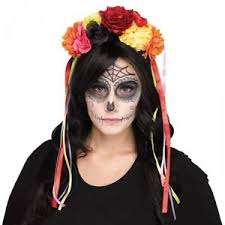 day of the dead headband day of the dead headband dia de los muertos la catrina sugar