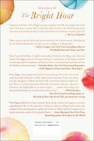 the bright hour a memoir of living and dying nina riggs