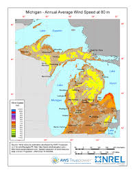 Maps Of Michigan Windexchange Wind Energy Maps And Data