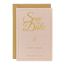 save the date wedding cards pastel gold foiled save the date wedding