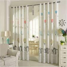 Cotton Drapes Balloon Curtains Korean Style Grey Drapes Punching Window