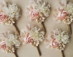 Wedding Boutonniere Blush Boutonniere Etsy