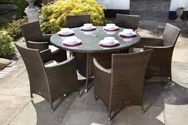 6 seater patio furniture set royal craft cannes 6 seater dining set with cushions u0026 reviews