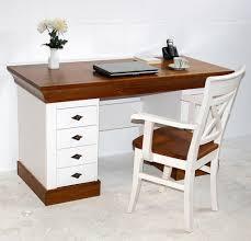 Pc Tisch Schreibtisch 143x77x65cm 4 Schubladen 1 Tür Kiefer Massiv