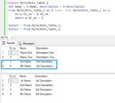 sql select from multiple tables sql server update from select statement my tec bits