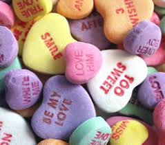 heart candies conversation candy hearts