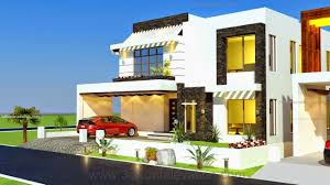 3d front elevation com 1 kanal house drawing