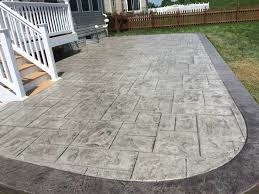 Stamped Concrete Patio Maintenance How To Frame A Stamped Concrete Patio Blackwater Concrete