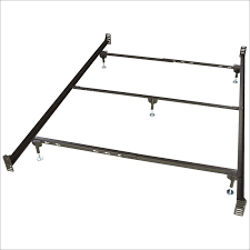 metal bed frame with headboard and footboard attachments by