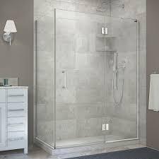 frameless corner shower doors shower doors the home depot unidoor x 48 3 8 in x 30 in x 72