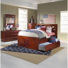 Captains Pedestal Bed Bedroom Full Size Bed With Drawers Twin Captains Bed With