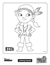 jake u0026 izzy jake neverland pirates coloring pages