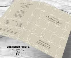 funeral program paper interlocking circles modern funeral program funeral folder