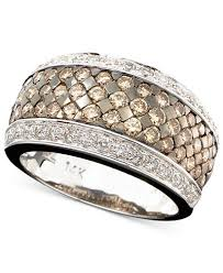 band ring le vian chocolate and white diamond band ring in 14k gold or 14k