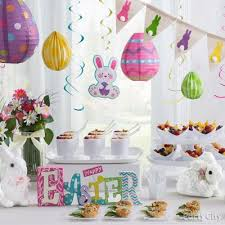 bunny decorations easter bunnies and eggs decorating idea party city