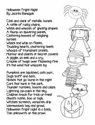 Halloween Boo Poems October 31st November 4th