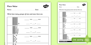 place value worksheet differentiated place value worksheets