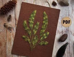 parsley pattern js fern plant hand embroidery pattern plant pattern diy fall